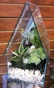 Glass Church Terrarium with Angel