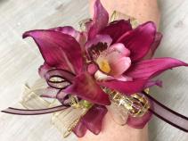 P100 - Glimmer Orchid Corsage Wrist Corsage