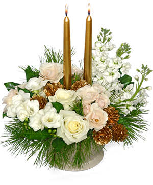 GLISTENING GOLD Floral Arrangement in Ozone Park, NY | Heavenly Florist