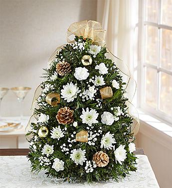 Glistening Gold™ Holiday Flower Tree® Arrangement