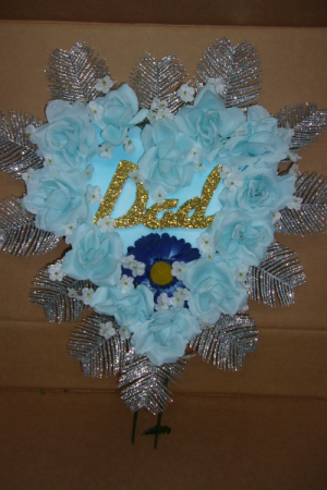 GLITTER DAD FATHERS DAY HEART $24.99