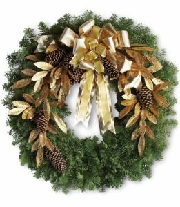 Glitter Gold Wreath H1301A