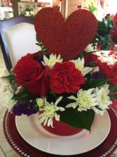 Glitter Heart Bouquet