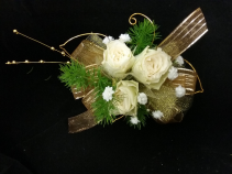 Glittery Gold Prom Corsage