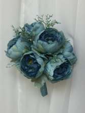Glitzy cabbage rose in silk Handheld Nosegay - colors can vary