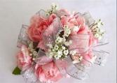 Glitzy Pink  Prom Corsage