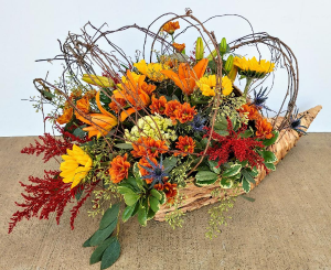 Glorious Bounty Cornucopia Arrangement in Springfield, MO | FLOWERAMA #226