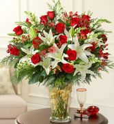 Glorious Christmas Arrangement Holiday Arrangement