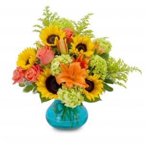 Glorious Day Arrangement in Naugatuck, CT | TERRI'S FLOWER SHOP