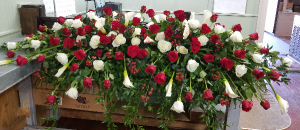 Glorious Farewell Casket Spray in Henderson, TX | RAYFORD FLORIST & GIFTS