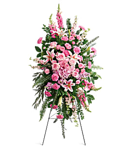 Glorious Farewell Easel Spray Funeral Flowers