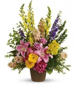 Glorious Grace Bouquet Basket Arrangement