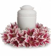 Glorious Life Wreath Funeral Arrangement