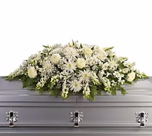 Glorious Light Casket Spray in San Bernardino, CA | INLAND BOUQUET FLORIST