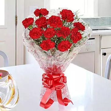 Glorious Red Carnation Bouquet