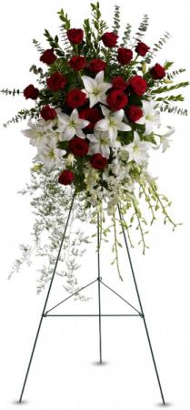 Glorious Tribute  spray in Oakville, ON   ANN'S FLOWER BOUTIQUE-Wedding & Event Florist