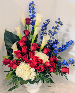 Glory Bound Sympathy Arrangement in Gardner, KS | In Full Bloom Too