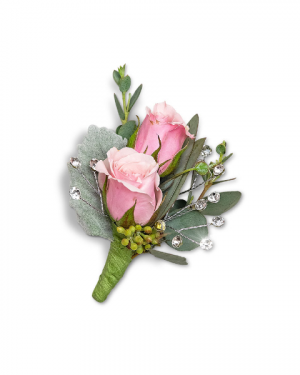 Glossy Boutonniere Corsage/Boutonniere in Nevada, IA | Flower Bed