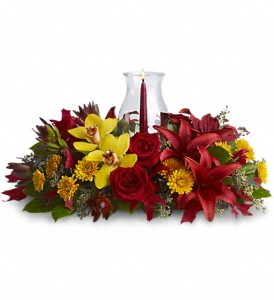 Glow of Gratitude Centerpiece in Coral Springs, FL | DARBY'S FLORIST