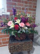 FLOWER GARDEN BASKET sympathy basket