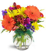Glowing Blooms Vase arrangement