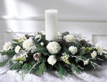 PEACEFUL GLOW Grand Candle Centerpiece