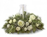 Glowing Elegance Holiday Centerpiece by Enchanted Florist