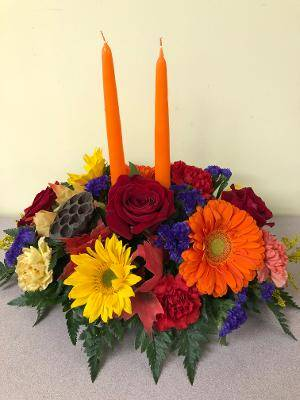 GLOWING HARVEST CENTERPIECE CENTERPIECE in East Meadow, NY | EAST MEADOW FLORIST