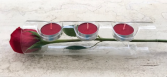 GLOWING LOVE Glass Holder-Real Rose with Candles