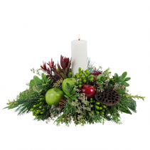Glowing Merlot Centerpiece