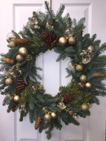 Glowing wreath, 24''