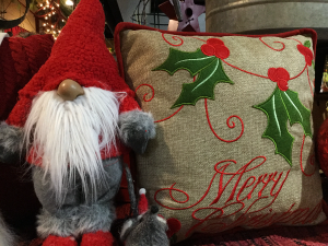 Gnome for Christmas Gnome and Christmas pillow in Pelican Rapids, MN | Brown-Eyed Susan's Floral