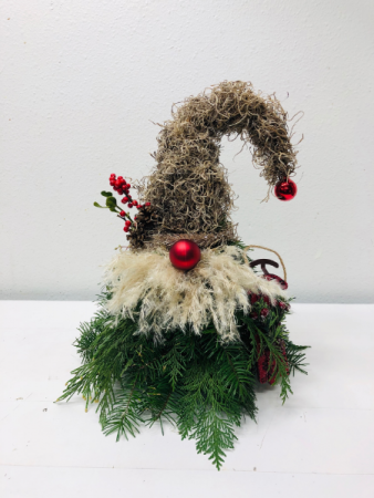 Gnome for the Holidays Christmas Arrangement