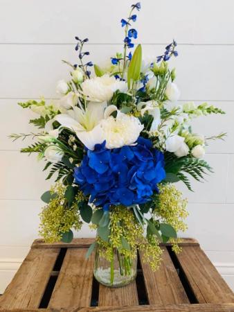 Go Big Blue Floral Arrangement