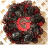 GO TEAM! Mesh Wreath Design by Buds 'n Bows
