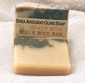 Goat's Milk Clove Body Bar Shea Avocado Olive Soap Bar