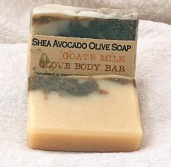 Goat's Milk Clove Body Bar Shea Avocado Olive Soap Bar
