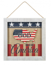 God Bless America Wall Plaque
