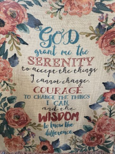 """GOD GRANT ME THE SERENITY"" THROW/BLANKET"