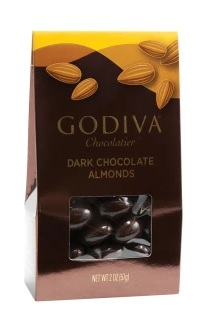 Godiva Dark Chocolate Almonds Gourmet Food