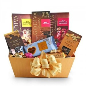 Godivia Chocolate Small Gift Basket