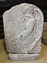 God's Angels Concrete plaque and stand