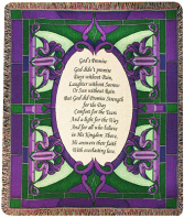 """God's Promise Manual 50x60"""" Tapestry Throw"""