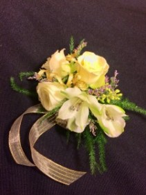 Gold and Glowing Wrist Corsage
