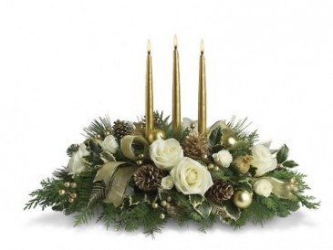Gold Centerpiece Christmas