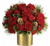 Gold Elegance Christmas Arrangement