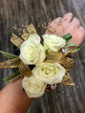 Gold Elegance  Wristlet