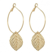 Gold Leaf Earring Set