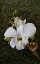 Gold Orchid Boutonierre