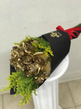 Golden Roses Bouquet